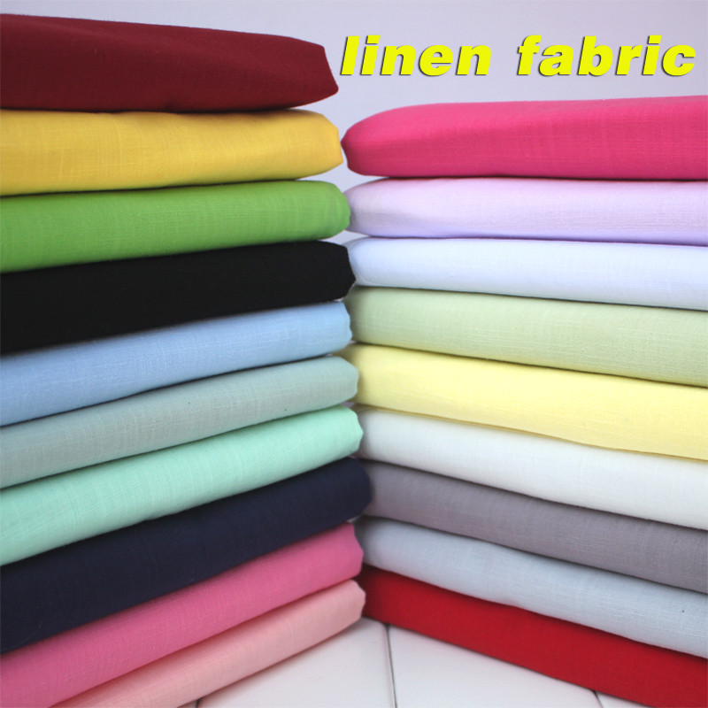 "Linen Cotton Blend Fabric Linen Cotton Fabric Linen Fabric Sommerklær Fabric Skirt 55 ""Bred Selges Av Yard Gratis Levering"
