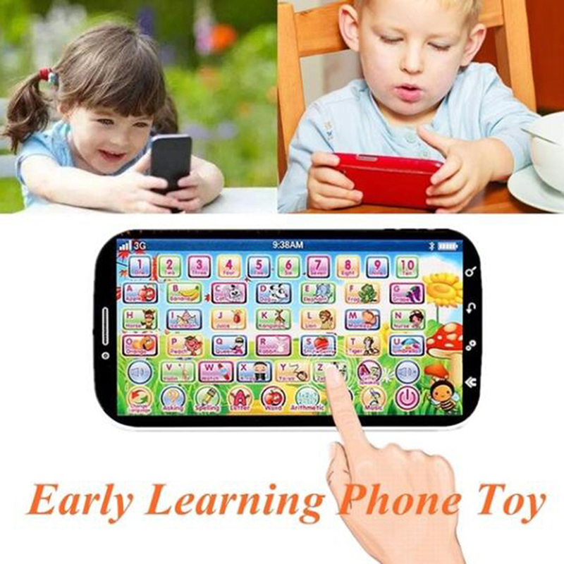 New Fashion White Learning Machine,Kids Toy Cell Phone Educational Toys Touch Screen Baby Toy For Children Students 14.5*7.5cm