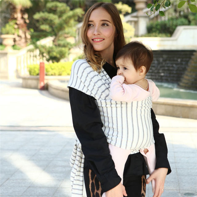 Online Shop Baby Wrap Carrier Stripes Easy To Put On Swaddle Blanket