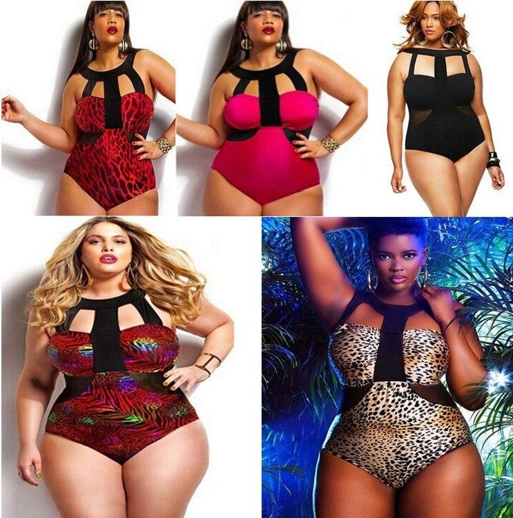 2017 New Plus Size Swimwear Large Sizes Swimsuit High Waist Bikini Women Beach Wear Push Up Bathing Suit Maillot De Bain Femme