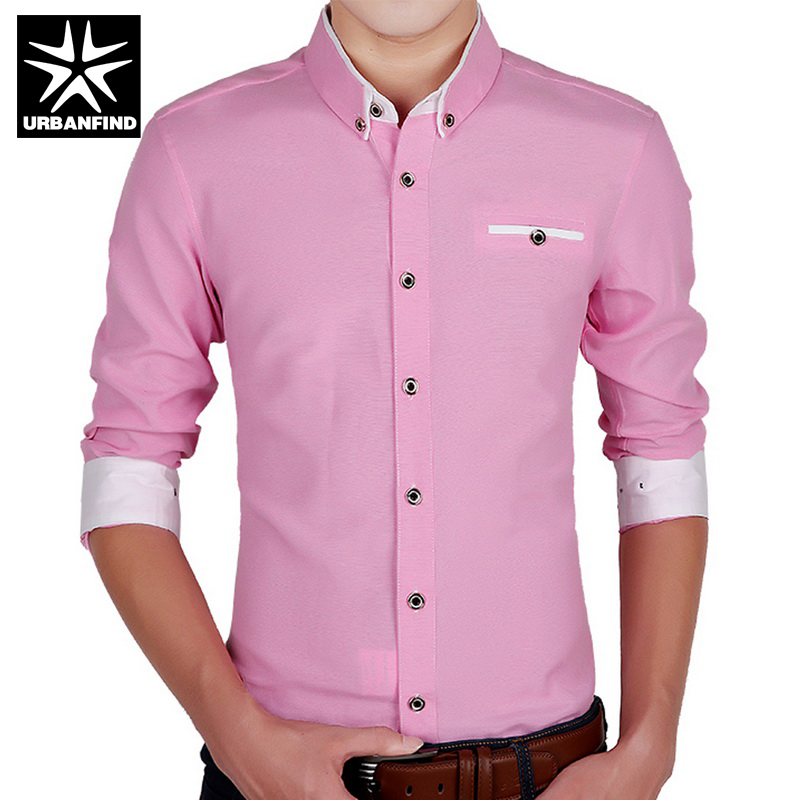 Aliexpress.com : Buy Business Style Men Formal Shirts Solid Color ...