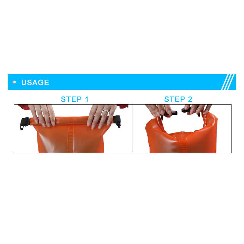屋外防水ドライバッグ 2L 5L 10L 水泳バケット袋収納袋川トレッキングラフティングカヤック旅行水バレル