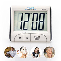Digital Kitchen Timer Cooking Timer With Large Display Screen Loud Sounding Alarm Strong Magnetic Backing