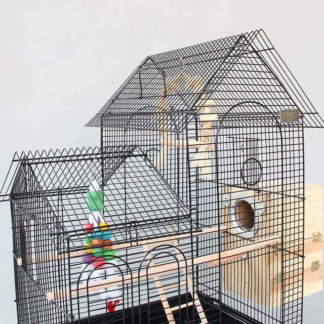 8ebf4f7c7 Large Roof Design Bird Cages Houses Metal Iron Parakeet Cockatiel Parrot  Cage Birds Aviary Pet Carrier A13-in Bird Cages & Nests from Home & Garden  on ...