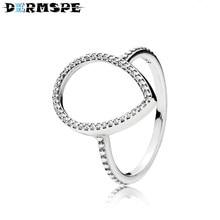b3cce06b9 DERMSPE 100% Sterling silver Jewelry 196253CZ TEARDROP SILHOUETTE RING  Original Women wedding Fashion Jewelry