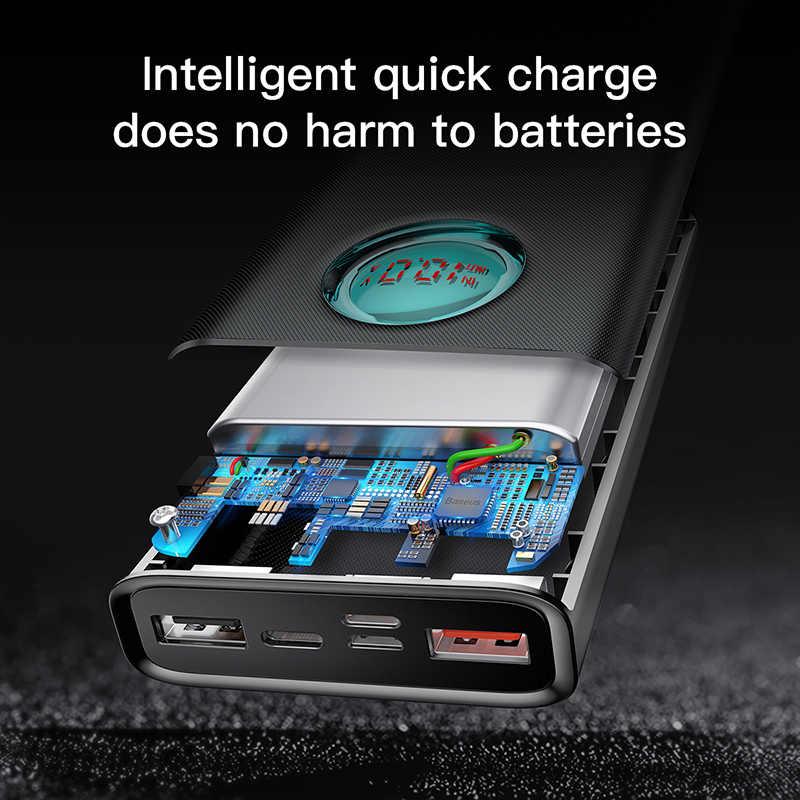 Batterie externe Baseus 20000mAh pour iPhone Samsung S10 USB type C PD Charge rapide + Charge rapide 3.0 USB Powerbank batterie externe