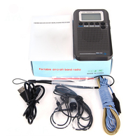 Full Band Radio Digital Demodulator FM / AM / SW / CB / Air / VHF World Band Stereo portable Radio with LCD Display Alarm Clock