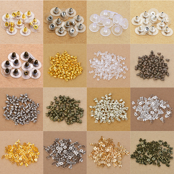 100pcs/lot Rubber Clear Earring Back Stopper Silicone Round Earring Back Stoppers Bullet Butterfly Earring Back Stoppers фото