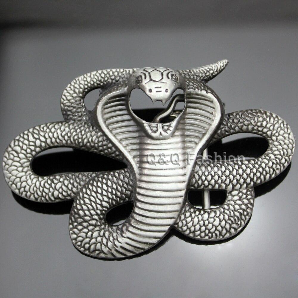 Nouveau Mode Vintage Argent Égyptien 3D Serpent Viper Cobra Python Ceinture  Boucle Biker Rocker Hommes dans Ceintures et Cummerbunds de Vêtements ... 1bc13b70eb4