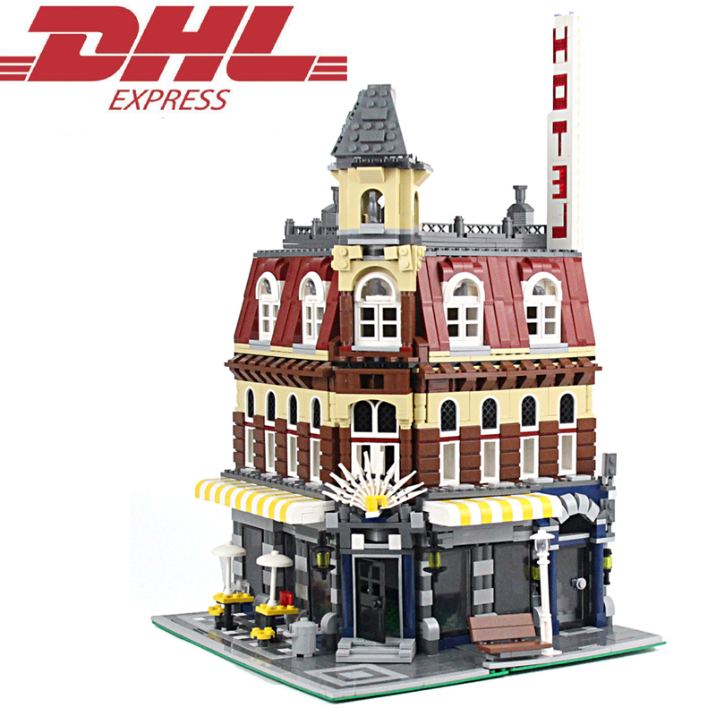 2133Pcs City Street Figures Cafe Corne Model Building Kits Blocks Bricks Toys For Children Christmas Gift Compatible With 10182 10646 160pcs city figures fishing boat model building kits blocks diy bricks toys for children gift compatible 60147
