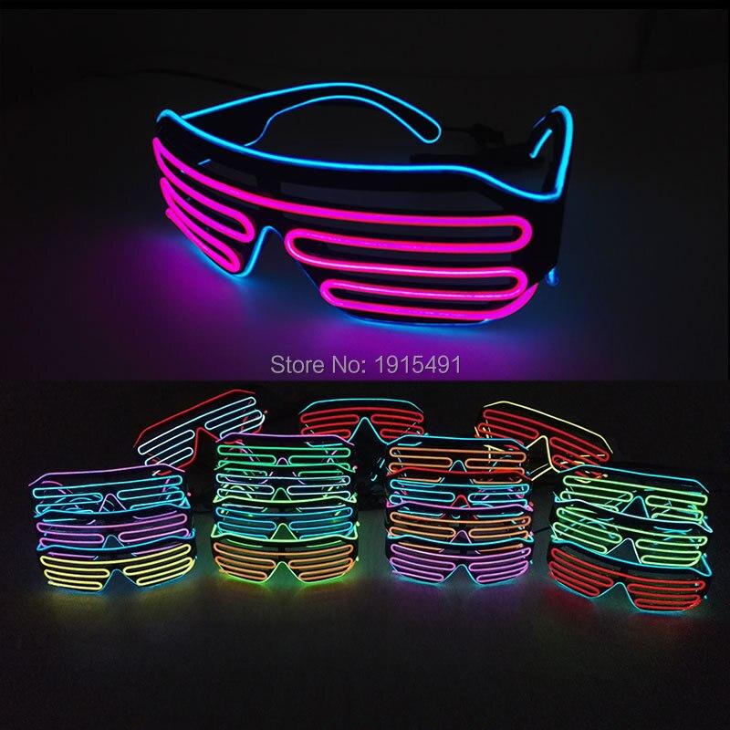 Lights & Lighting ... Novelty Lighting ... 32796411896 ... 2 ... Popular Two Color Bicolor EL shutter glasses LED neon glasses with DC3V EL converter For Bachelor party,Novelty Lighting ...