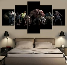 Left 4 Dead 2 Game Modern Painting Canvas Wall Art 5 Piece HD Print For Living Room Artwork