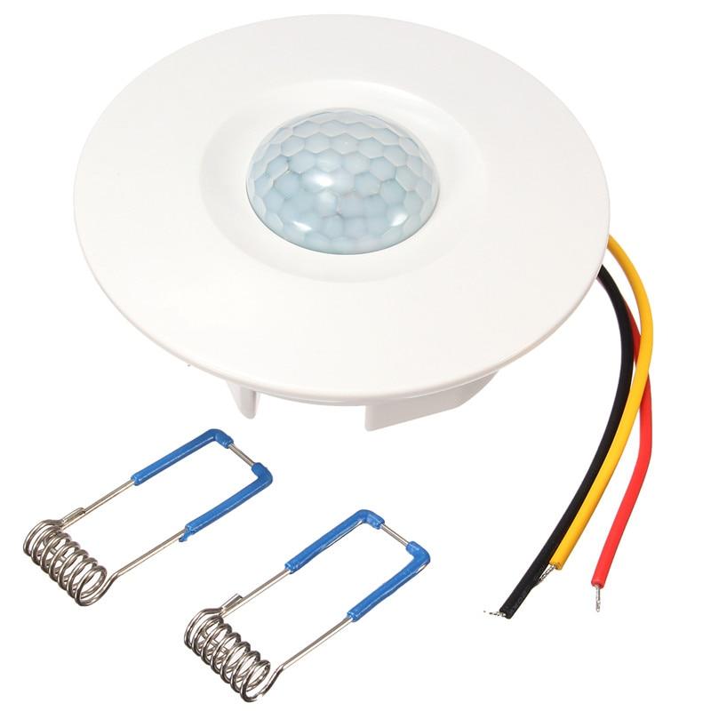 Ceiling PIR Sensor Switch Recessed PIR Infrared Human Body Induction Switch Light Control Ceiling Lamp Motion Sensor Detector стоимость