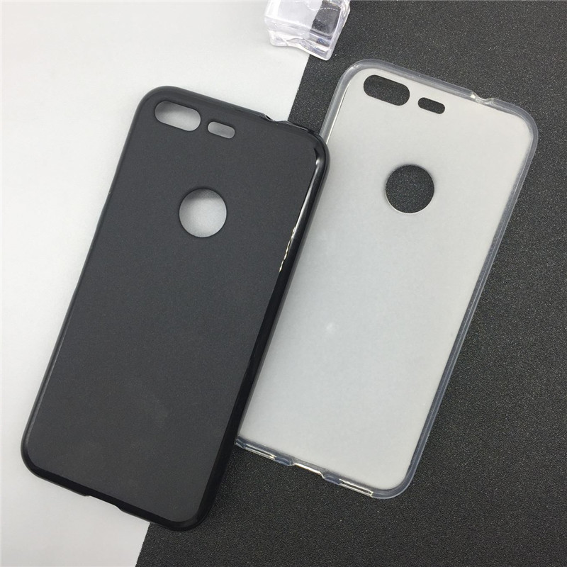 Soft Silicone Phone Cases For Google Pixel 5.0 Inch Original TPU Back Cover Pudding Case Fundas Black Shell