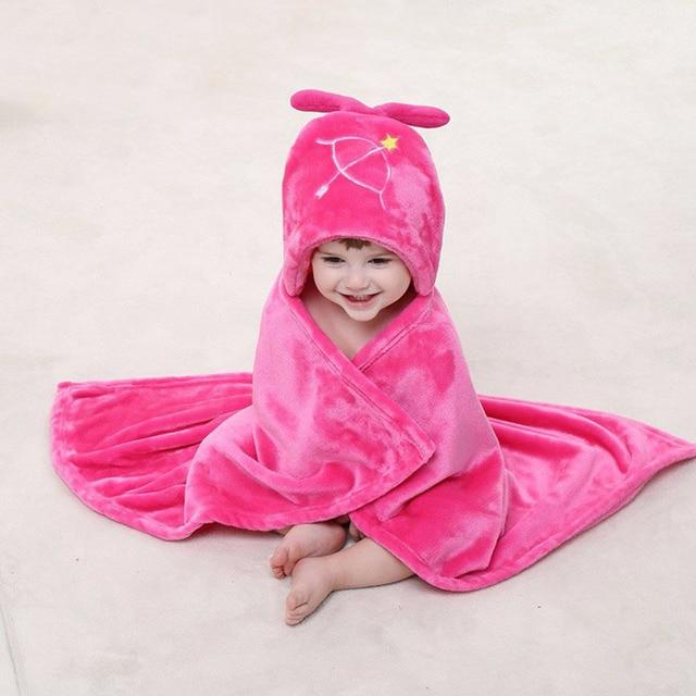 Fashion flannel fleece wrap blankets cartoon constellation modern burlap wrap newborn kids