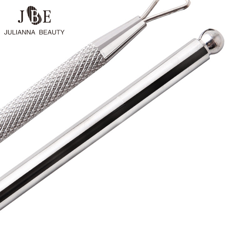 1 Pc  New Cuticle Pusher Nail Tools Stainless Steel Manicure Nail Tools Unloading A Planer Oil Glue Dead Skin Push Nail