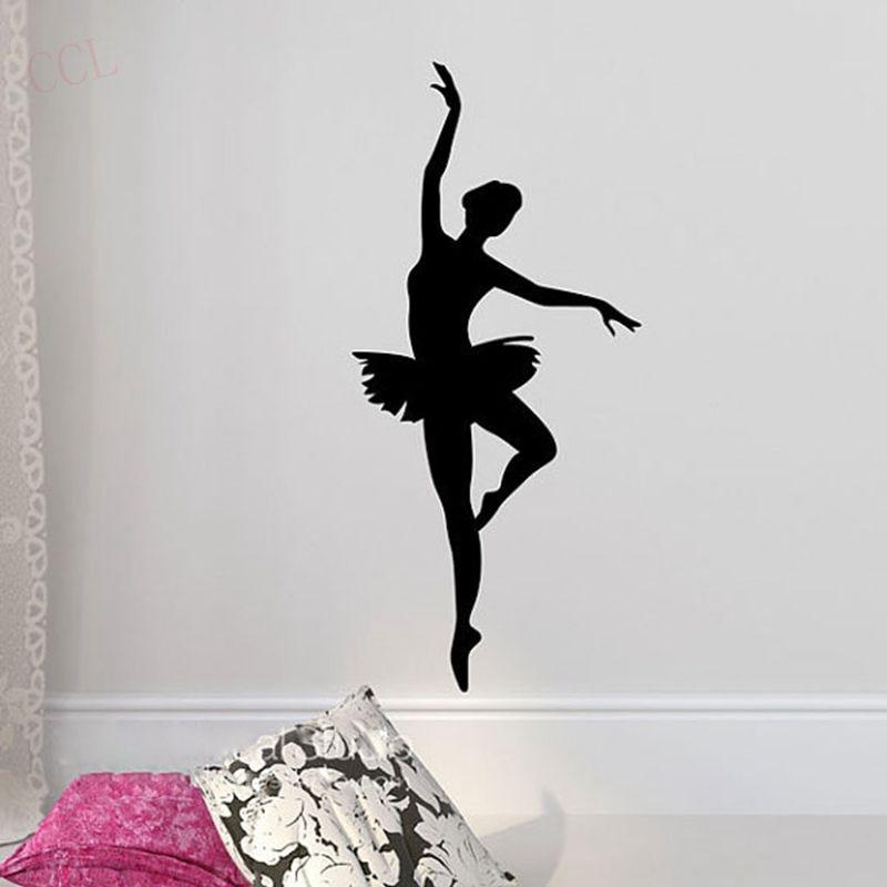 dancer silhouette wall decals reviews online shopping popular ballet wall decals buy cheap ballet wall decals