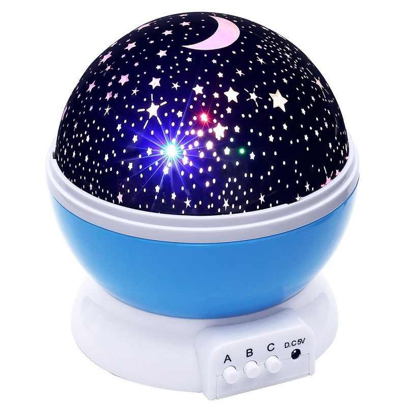 Новинка светящиеся игрушки вращасветодио дный ющиеся светодиодные Звездное небо Проектор лампа ночник Рождество Eve Рождественский подарок на день рождения