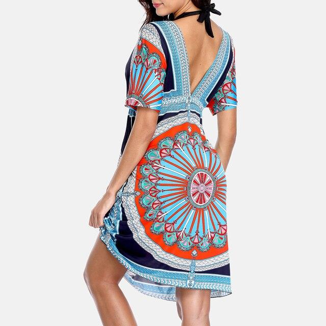 Anfilia Women's Cover Up Dress Chiffon Tassel Bikini Coverup Ladies Bohemian Swimsuit Sexy Tunic Swimwear Beachwear 8