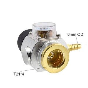 Image 2 - Soda CO2 Mini Gas Regulator T21*4 Thread CO2 Charger Kit 0 90 PSI Cornelius keg charger for European Draft Beer Kegerator