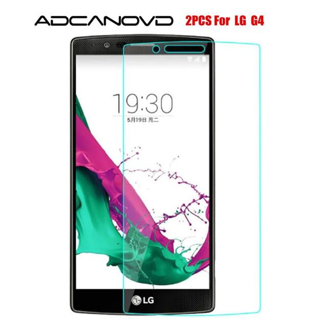 2ピーススクリーンプロテクターsfor lg g4ガラス強化ガラスlg g4ガラス用LGG4 h810 h815抗スクラッチ電話フィルム
