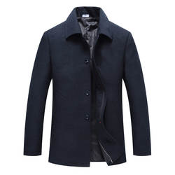 Хорошее качество отложной воротник куртка Длинная зимняя мужская