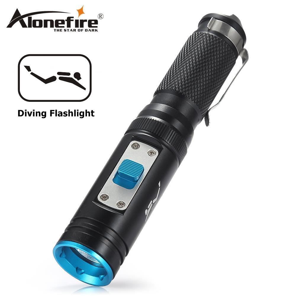 Lights & Lighting Able Alonefire Div18 Diving Diver Led Flashlight Underwater Torch L2 Waterproof Light Lamp Torch Scuba Lantern Submarine Light Led Lighting
