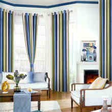 Mediterranean Striped Printed Window Blackout Curtains For The Bedroom Fancy  Modern Curtains For Living Room Decoration