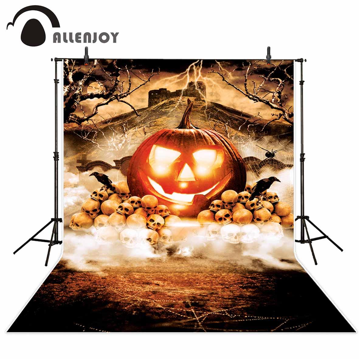 Allenjoy photography backdrop Doomsday Spider Skull Head Pumpkin Halloween backdrop newborn original design fantasy studio props футболка print bar doomsday