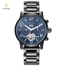 Brand Classic Fashion Business Casual Watch Men s Automatical Self wind Wrist Watches Stainless Steel Tourbillon