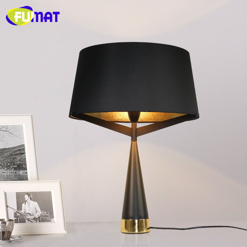 Fumat axis table lamp modern black white metal table lamp - Black table lamps for living room ...