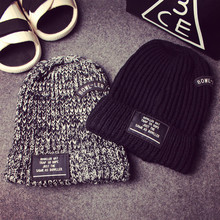 2017 New Men and women beanie letters BOWLLER knitted cap fashion warm winter hat free shipping