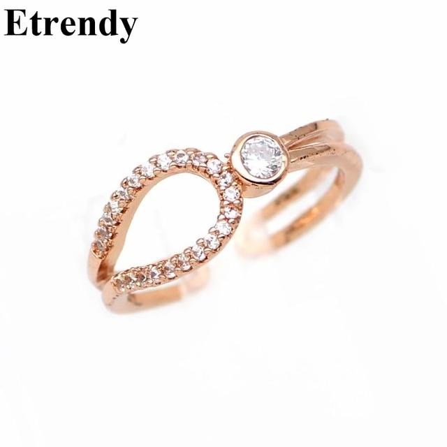 Women s Elegant Open Ring Jewelry Rhinestone Adjustable Finger Rings  Wholesale Cute Gift 8b152f19c