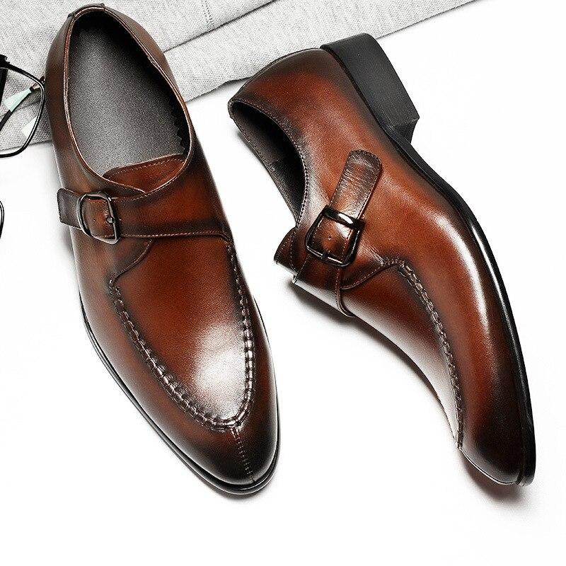 Hommes en cuir véritable chaussures d'affaires robe formelle chaussures hommes angleterre mode mocassins Oxfords taille 37 44 usine directe en gros-in Chaussures d'affaires from Chaussures    3