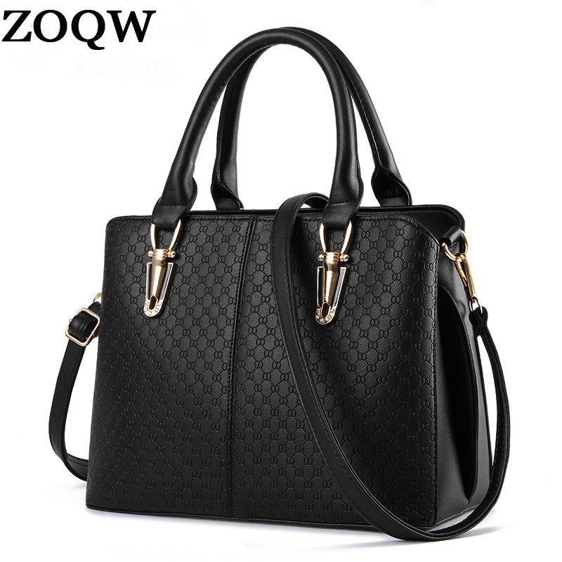Women Hanbags 2016 New Design PU Leather Female Ladies Shoulder Bags Travel Work Balck Brand Woman Big Handbag Hot Sale LX461 tote bags for work