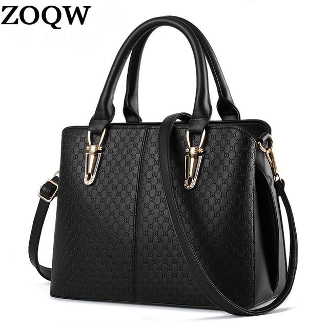 3bb91661fe91 Women Leather Handbags 2018 New Designer Ladies Hand Bags Shoulder Bag  Travel Work Black Brand Woman Big Handbag Hot Sale LX461