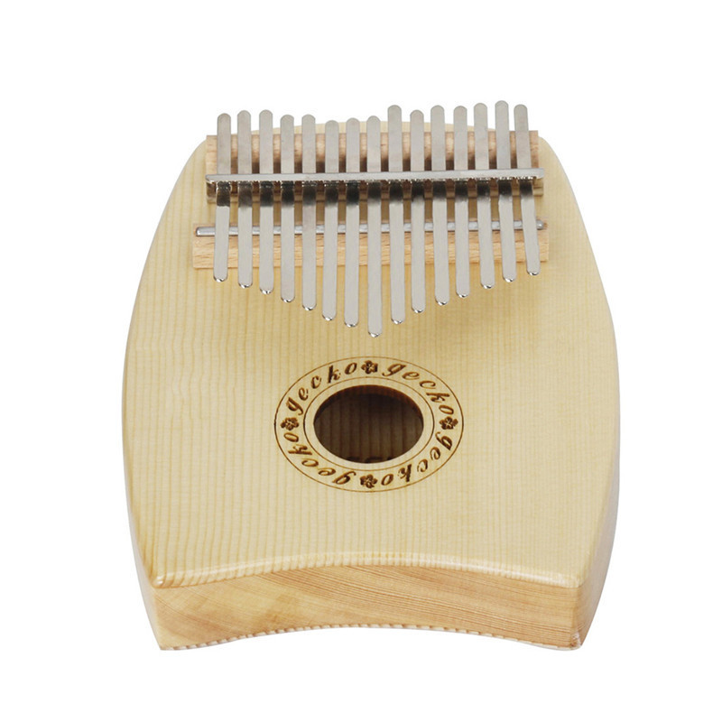 IRIN 15 Key Kalimba Solid Spruce Thumb Piano Calimba Mbira Africa Natural Mini Keyboard Instrument 17 key kalimba mahogany thumb piano mbira calimba natural mini keyboard instrument with tuner hammer manual portable bag sticker