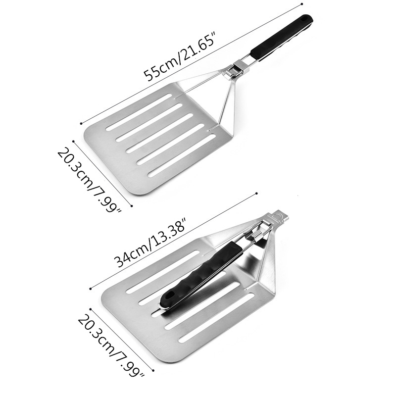 1PC Stainless Steel Pizza Cake Transfer Shovel Extra Large Folding Pizza Shovel Collapsible Shovel Kitchen Supplies in Pizza Tools from Home Garden