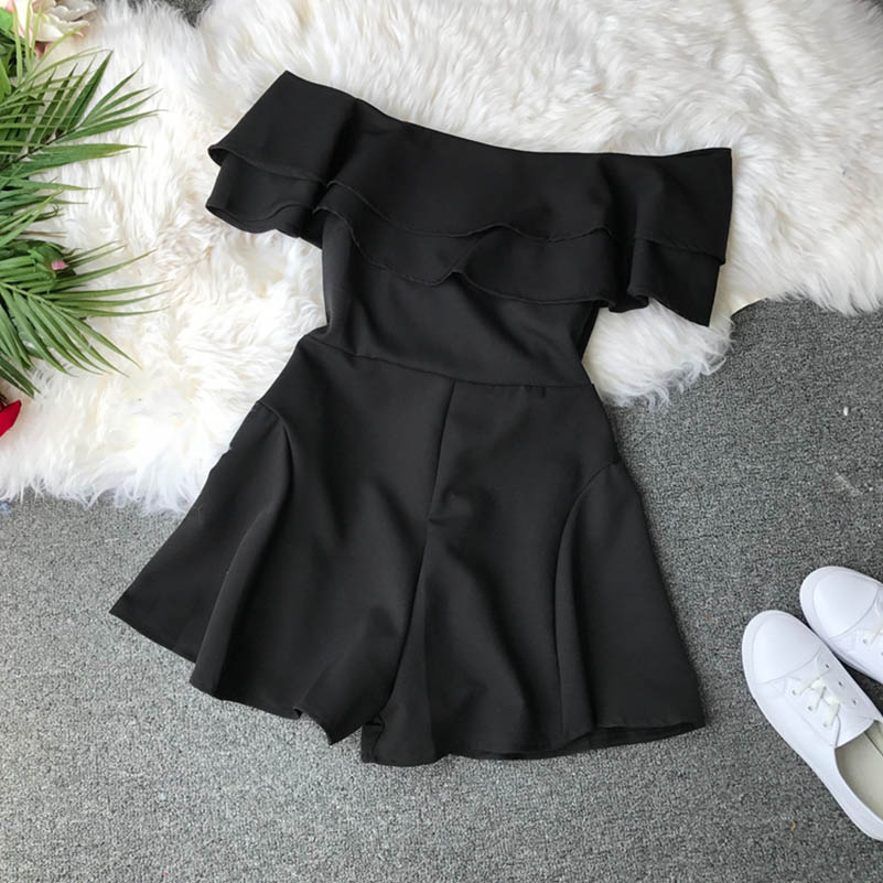 HTB1YH1EcaWs3KVjSZFxq6yWUXXaR - Candy Color Elegant Jumpsuit Women Summer Latest Style Double Ruffles Slash Neck Rompers Womens Jumpsuit Short Playsuit