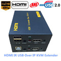 Super Quality 500ft HDMI KVM IR Extender Over TCP IP 1080P USB Keyboard Mouse KVM Extender 120m Via Ethernet RJ45 Cat5e/6 Cable