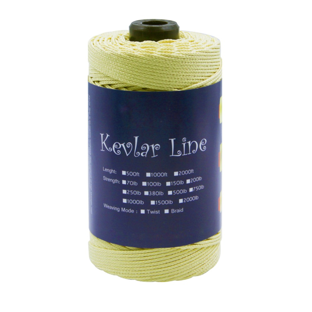 300ft / 91M 1000lb Kevlar Line 2.5mm Diameter Braided Fishing Line Large Kite Flying String Super Strong Outdoor Camping Cord 4mm 3960lb fishing rope braided fishing line accessories 15m uhmwpe safety survival utility cord large kite line string