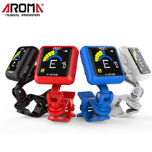 Aroma USB Rechargeable Battery Clip-on LCD Guitar Tuner 360 Rotatable Digital Tuner For Chromatic Guitar Bass Ukulele Violin