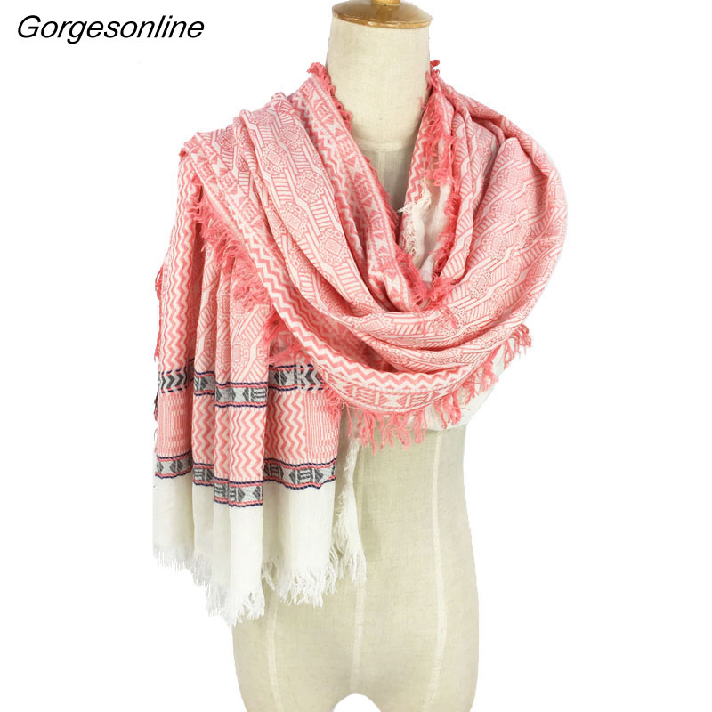 Men's Scarves 2018 New High Quality Cotton Jacquard Wrap Plaid Unisex Yarn Dyed Weaving Pashmina Shawl Casual Men Scarf