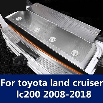 Artículo de umbral Bienvenido protector de pedal trasero decoración de puerta trasera tira brillante estilo de coche para toyota land cruiser lc200 2008-2018