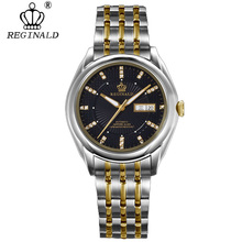 REGINALD Top Mens Watches Top Brand Luxury Automatic Mechanical Watch Men Full Steel Business Waterproof Fashion Sport Watches