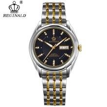 Reginald 탑 남성 시계 톱 브랜드 럭셔리 자동 기계식 시계 남자 전체 철강 비즈니스 방수 패션 스포츠 시계
