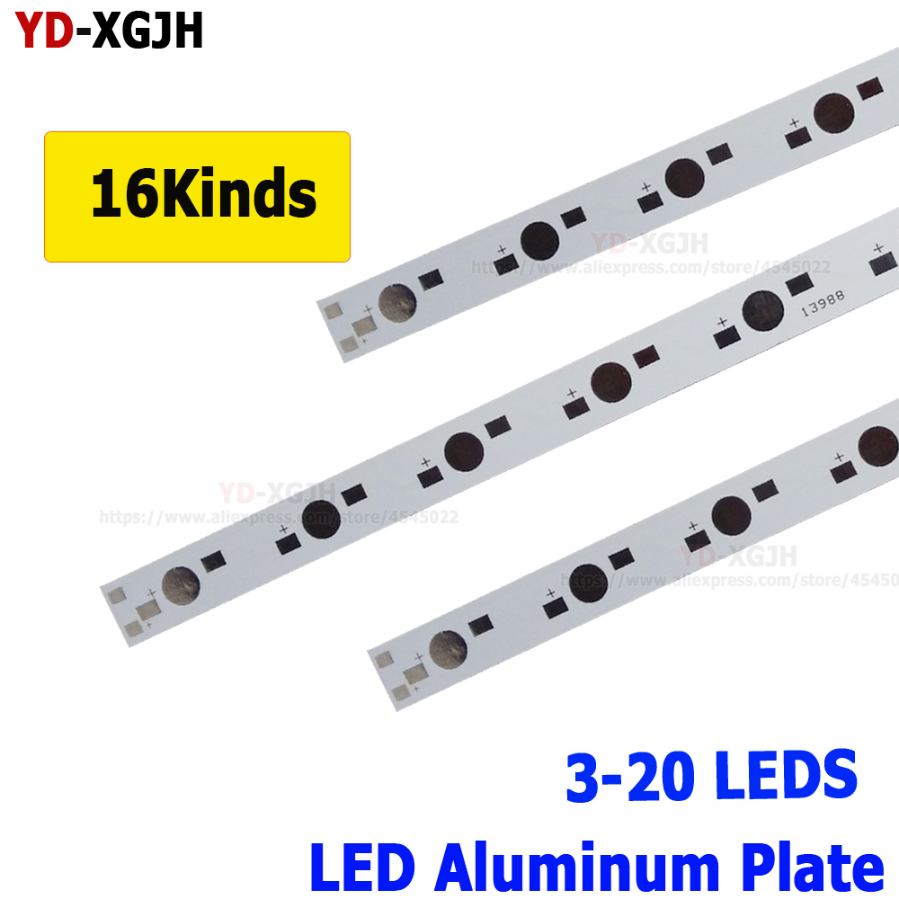 10pcs 1 3 5W LED 100MM 150MM 300MM 390MM 400MM 500MM 595MM Aluminum Base Plate PCB Board Substrate DIYFor High Power Light Beads