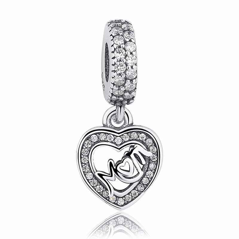 Silver Family Charm Beads mom 1
