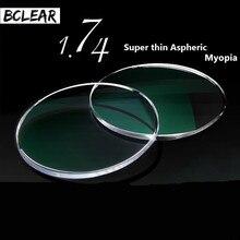 BCLEAR 1,74 Ultra Hohe Index Super Dünne Asphärische Optische Brillenglas Für Myopie Brille Dioptrien Kurzsichtig Kurzsichtig