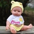28 CM Lifelike Boneca Reborn Vinil Silicone Macio Bebê Recém-nascido para a Menina Presente de Aniversário de Natal Cor Aleatória de Som Falando brinquedo